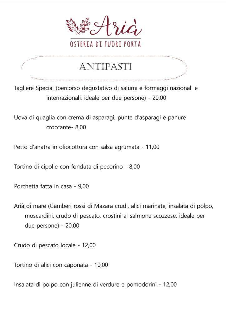 menu 050919 antipasti