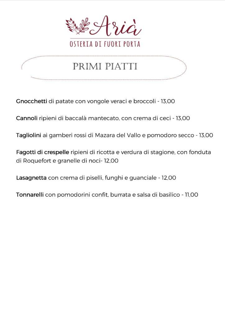 menu 051119 primi piatti