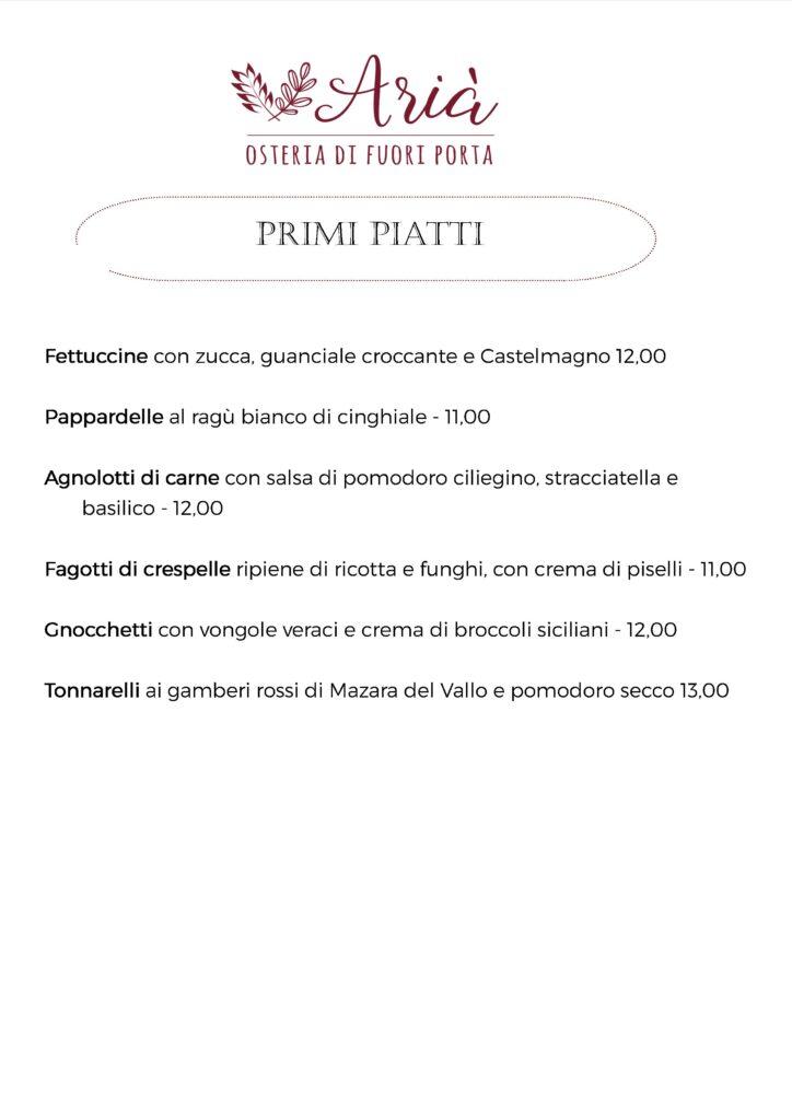 menu 131020 primi piatti