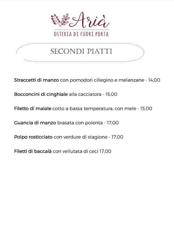 menu 131020 secondi piatti