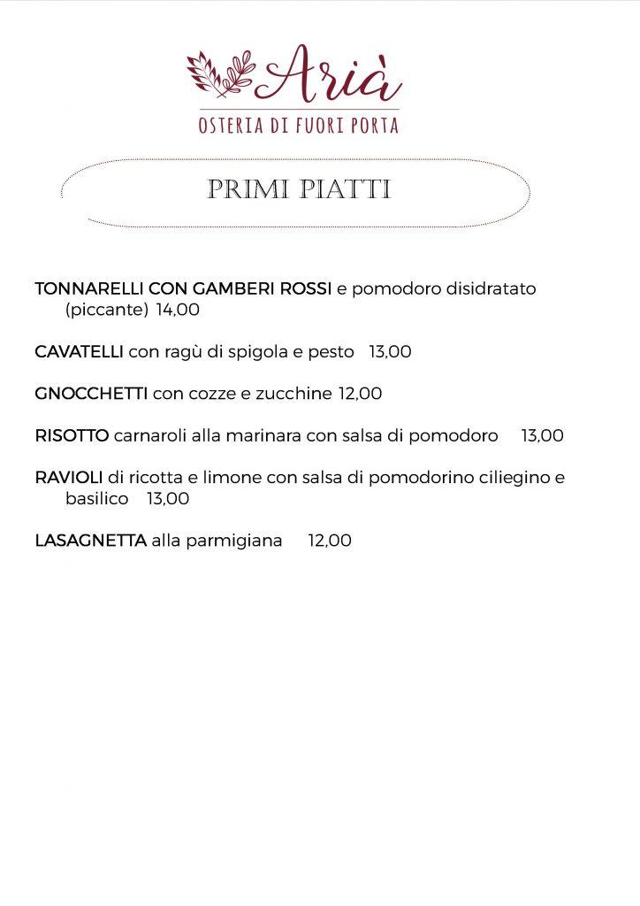 menu 190821 primi piatti