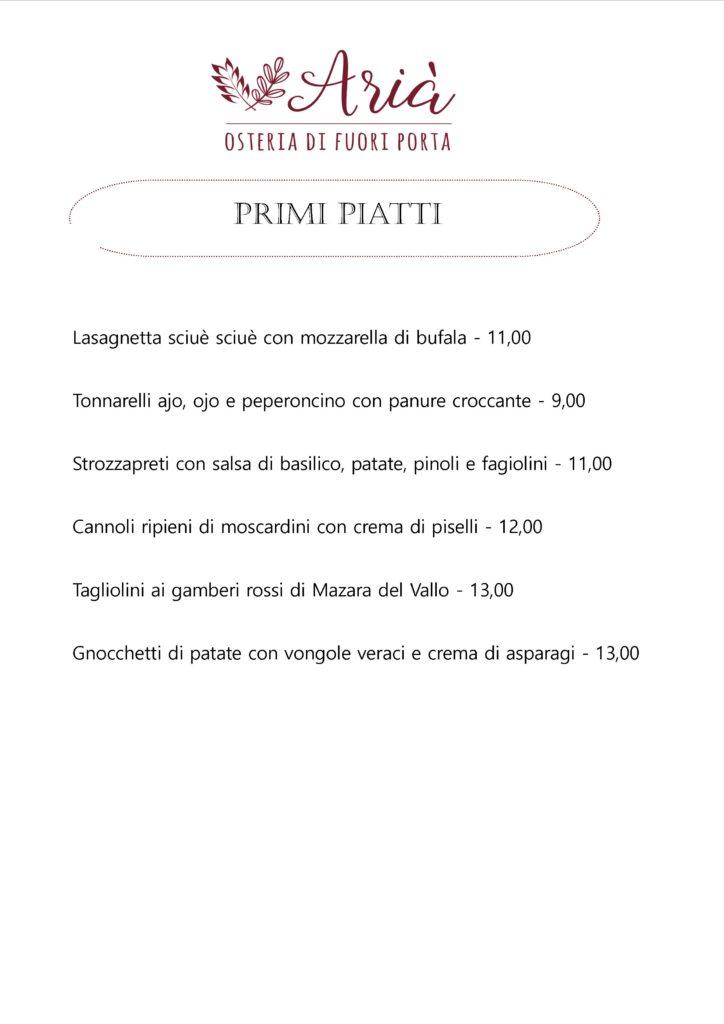 menu 090519 primi piatti